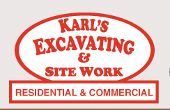 Karl's Excavating and Site Work Logo