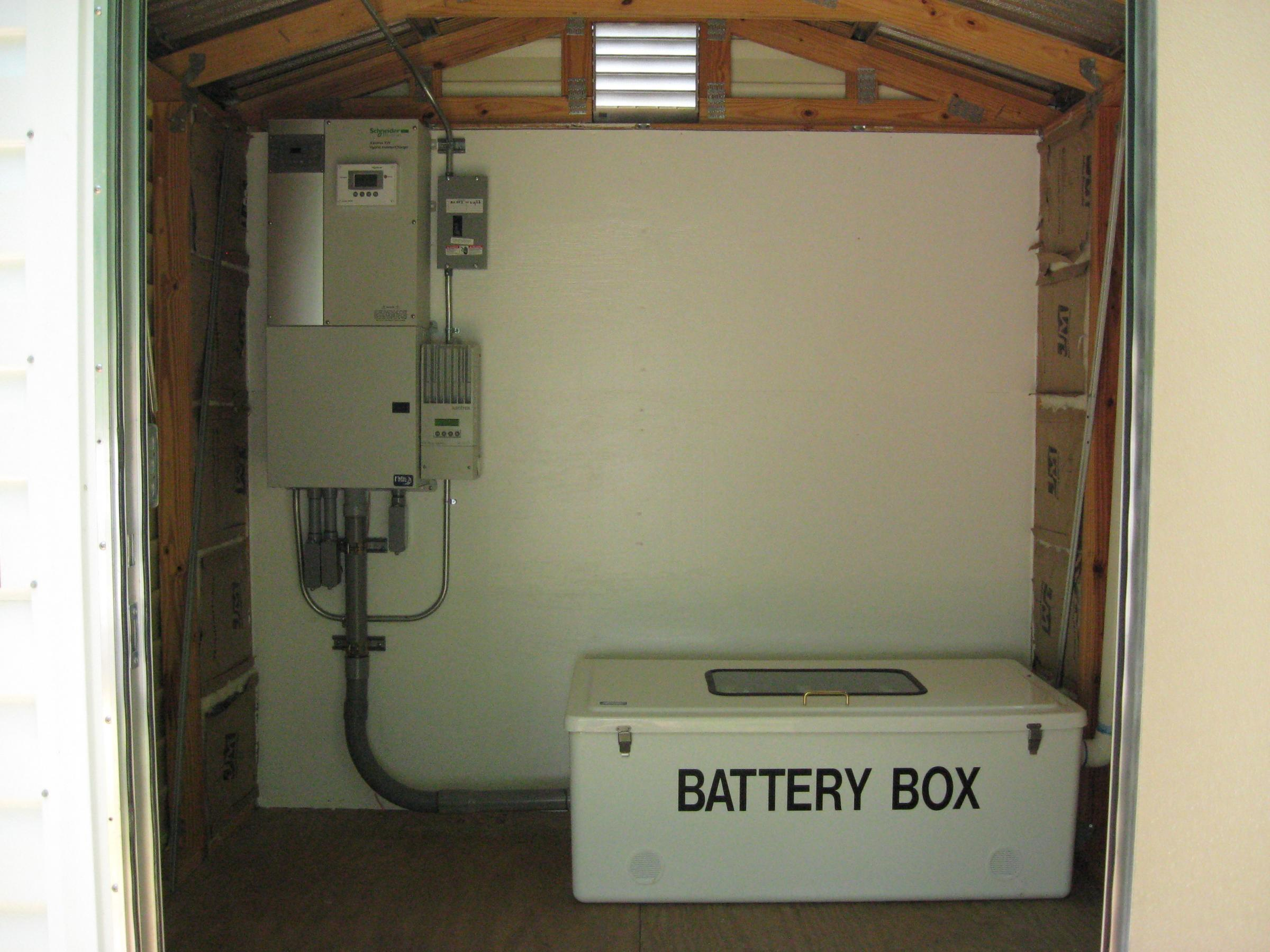 Solar power management system and battery storage