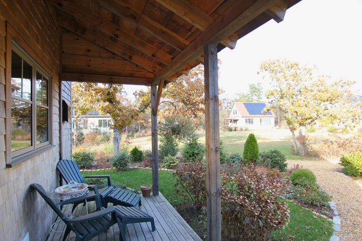 Timber Framed Porch from site-harvested Pine