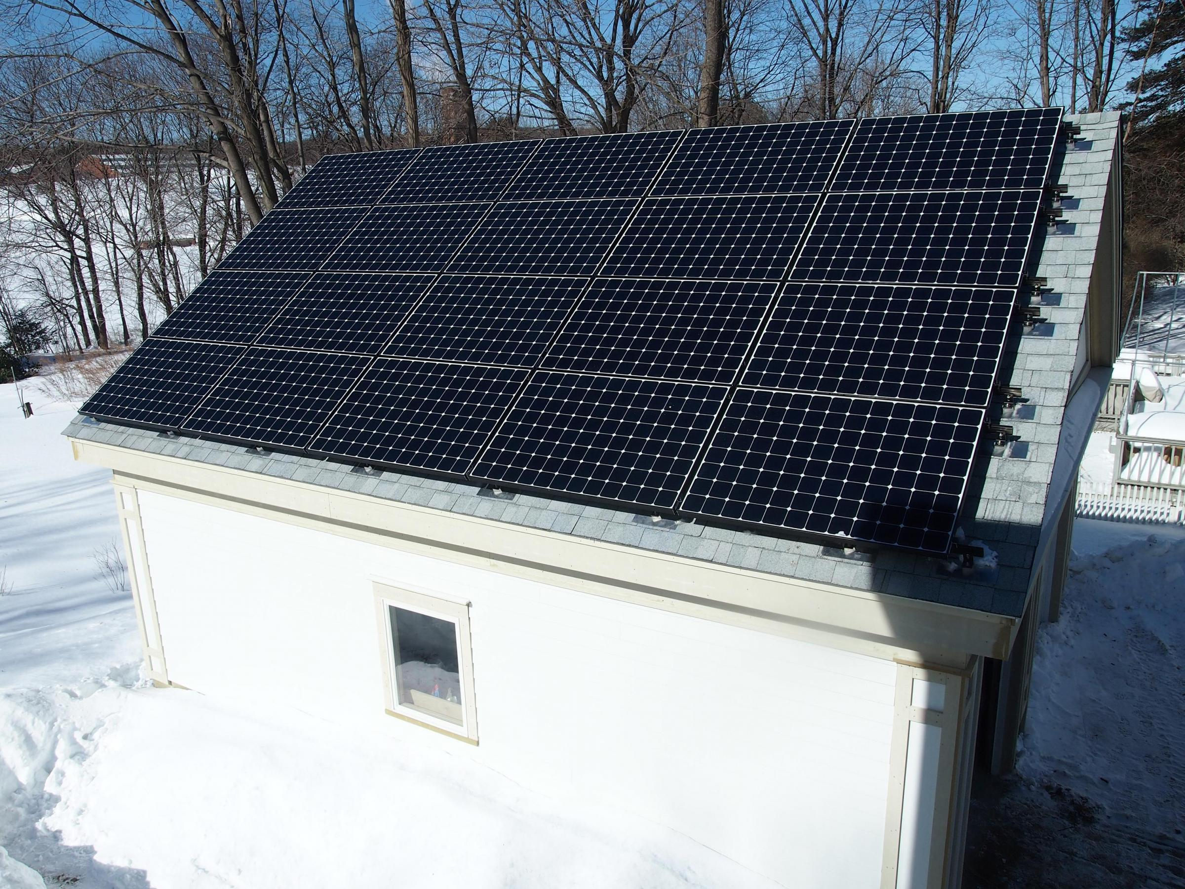 Garage Solar PV Panels