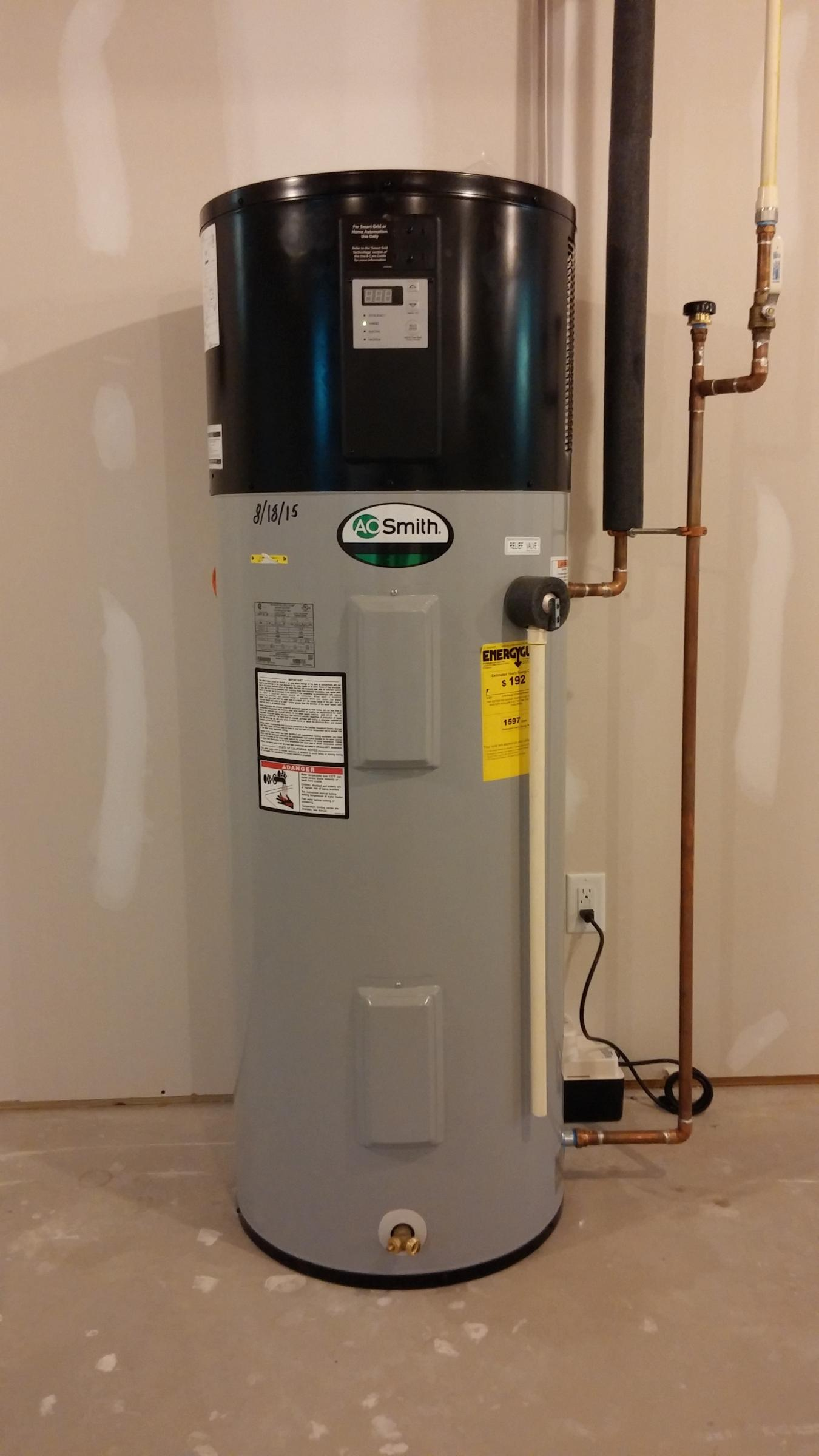 AO Smith air source heat pump water heater