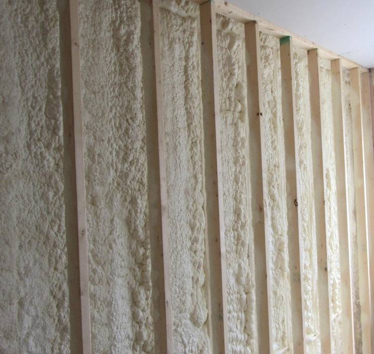 Spray foam in double stud walls