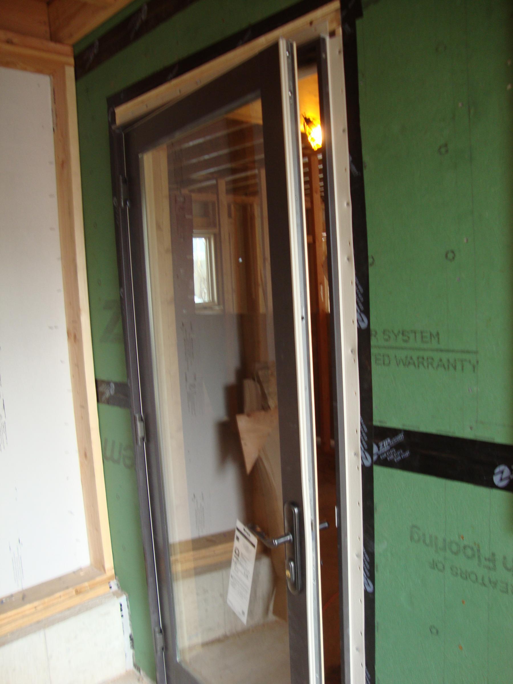 Door installation detail