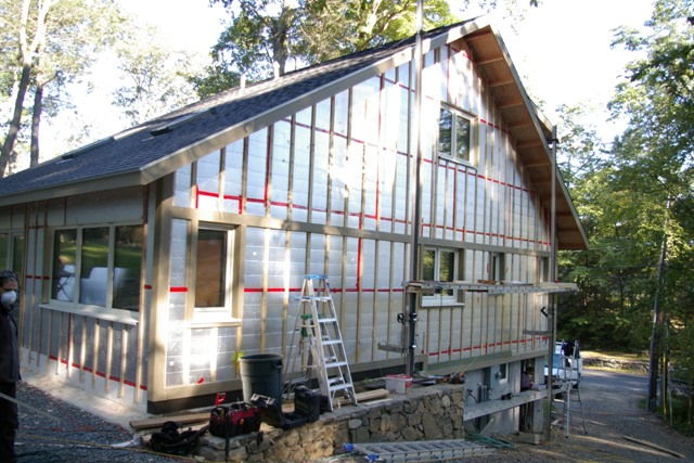 Second layer of exterior wall insulation