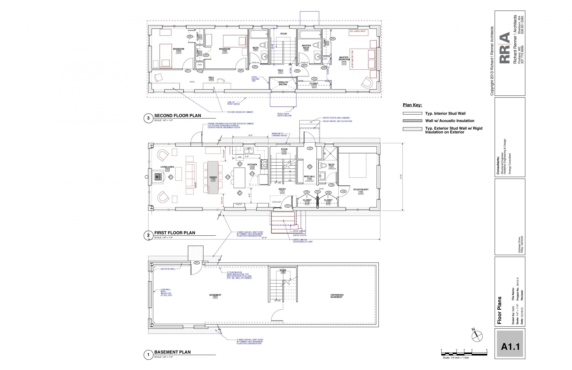Hillside House Floor Plans