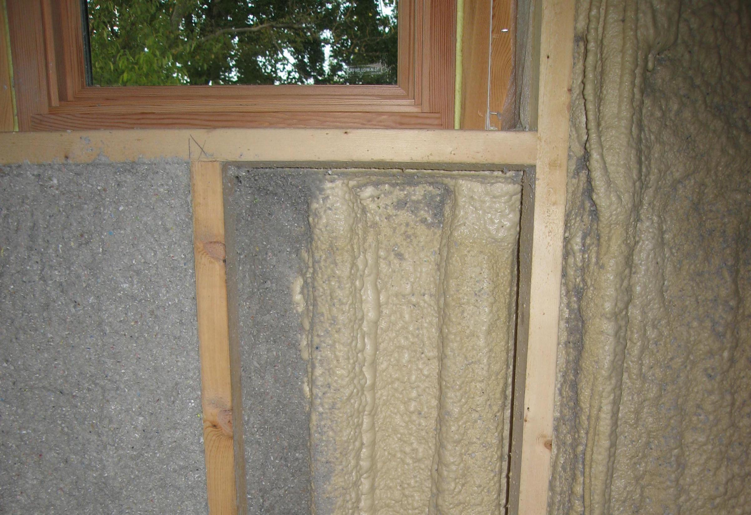 Trail Magic double wall insulation; a positive energy home in Oberlin OH