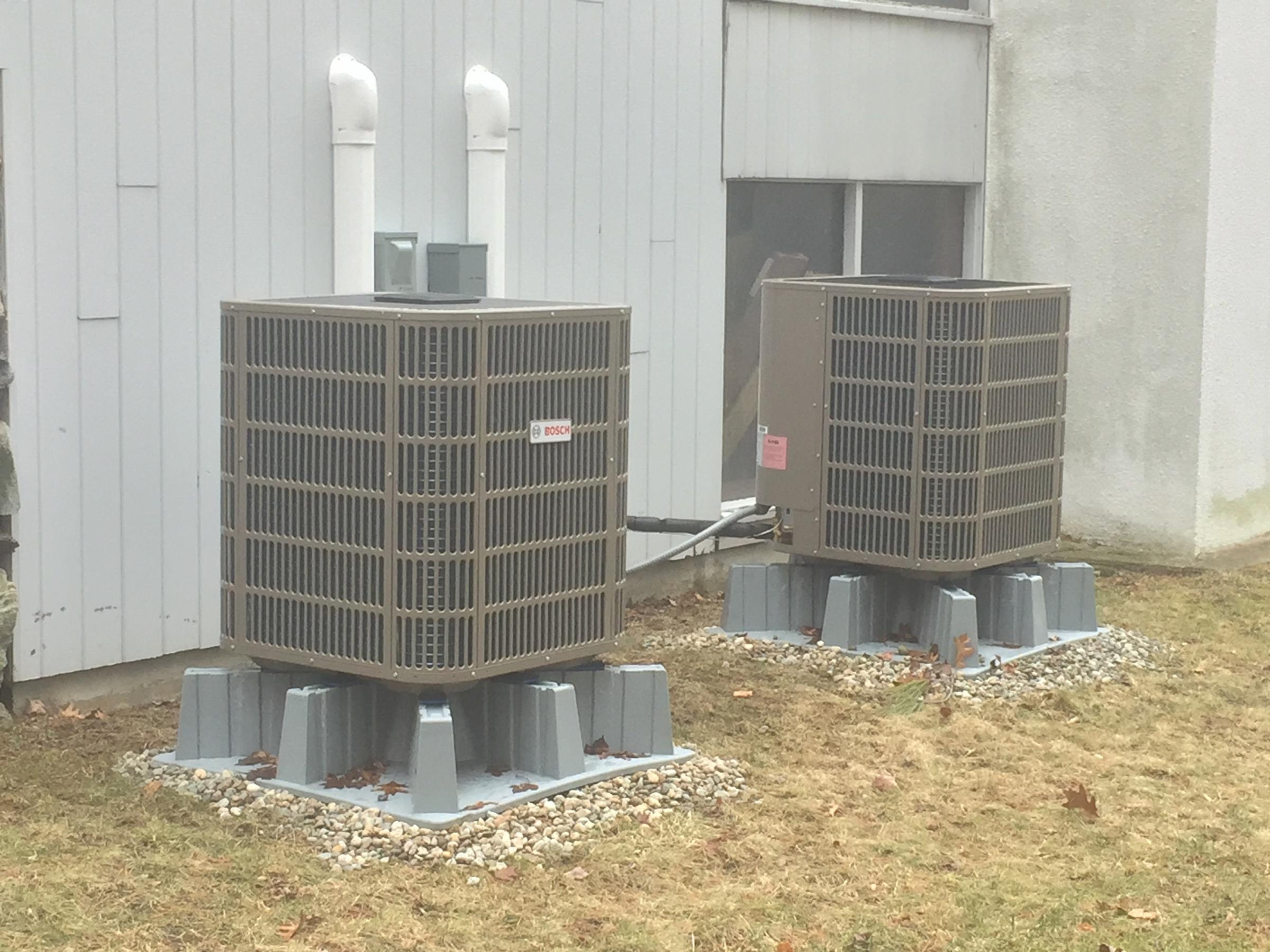 Our heat pumps which cut our carbon footprint by 20 tons a year
