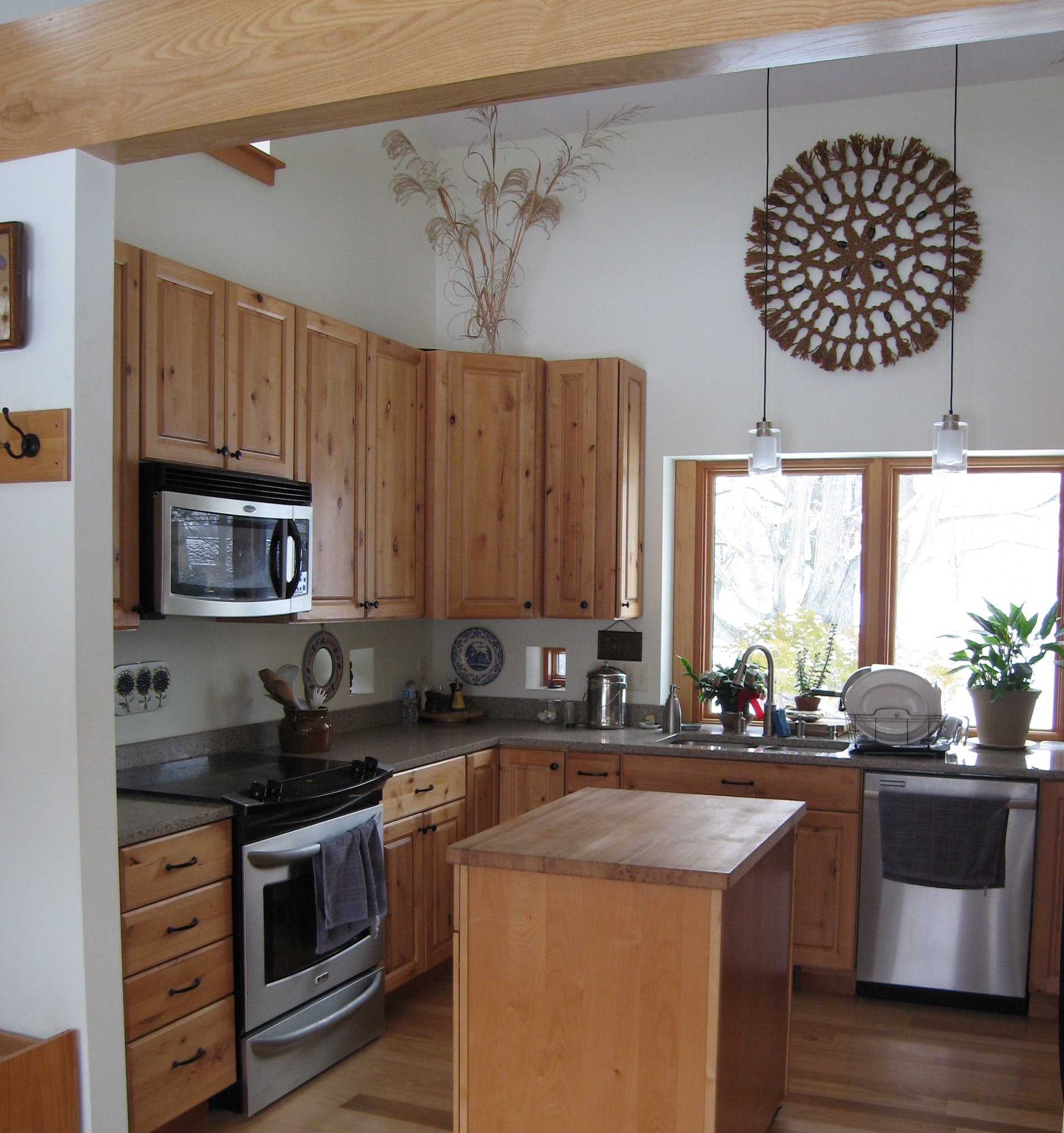 Trail Magic kitchen; a positive energy home in Oberlin OH.