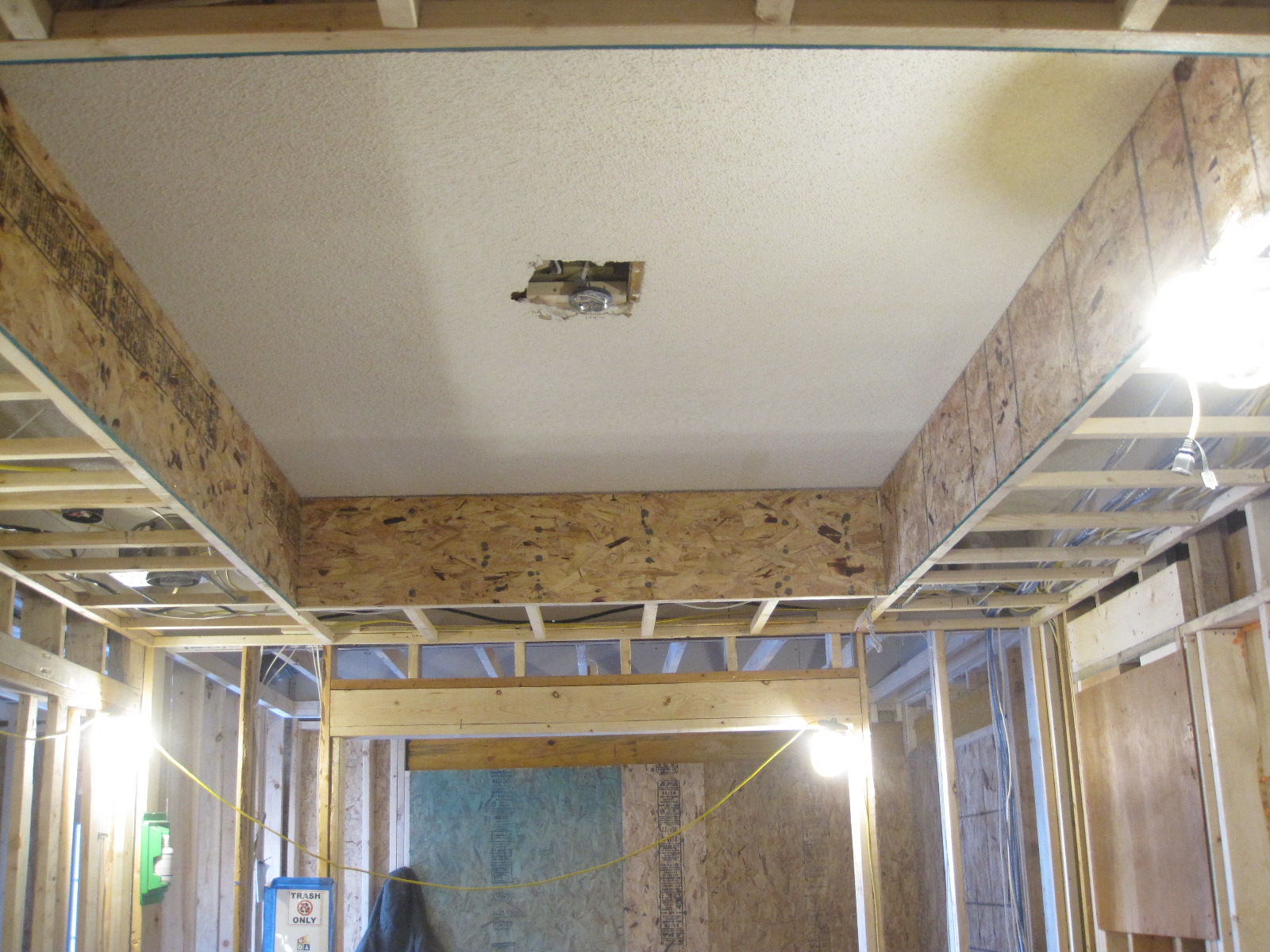 Soffits frame cove ceilings in all downstairs rooms