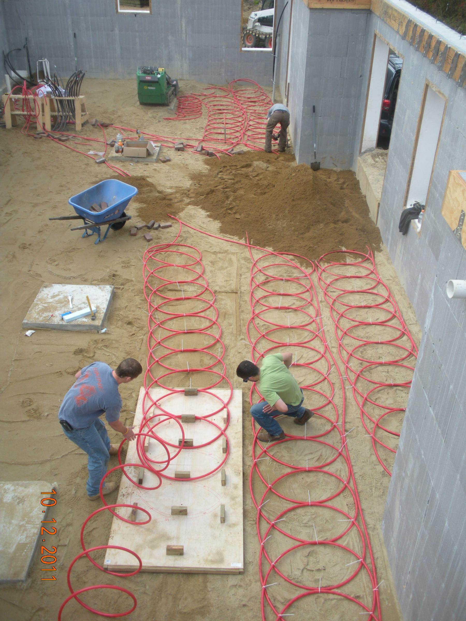 ROSE Cottage Project - Interior Solar Thermal Ground Loop Installation
