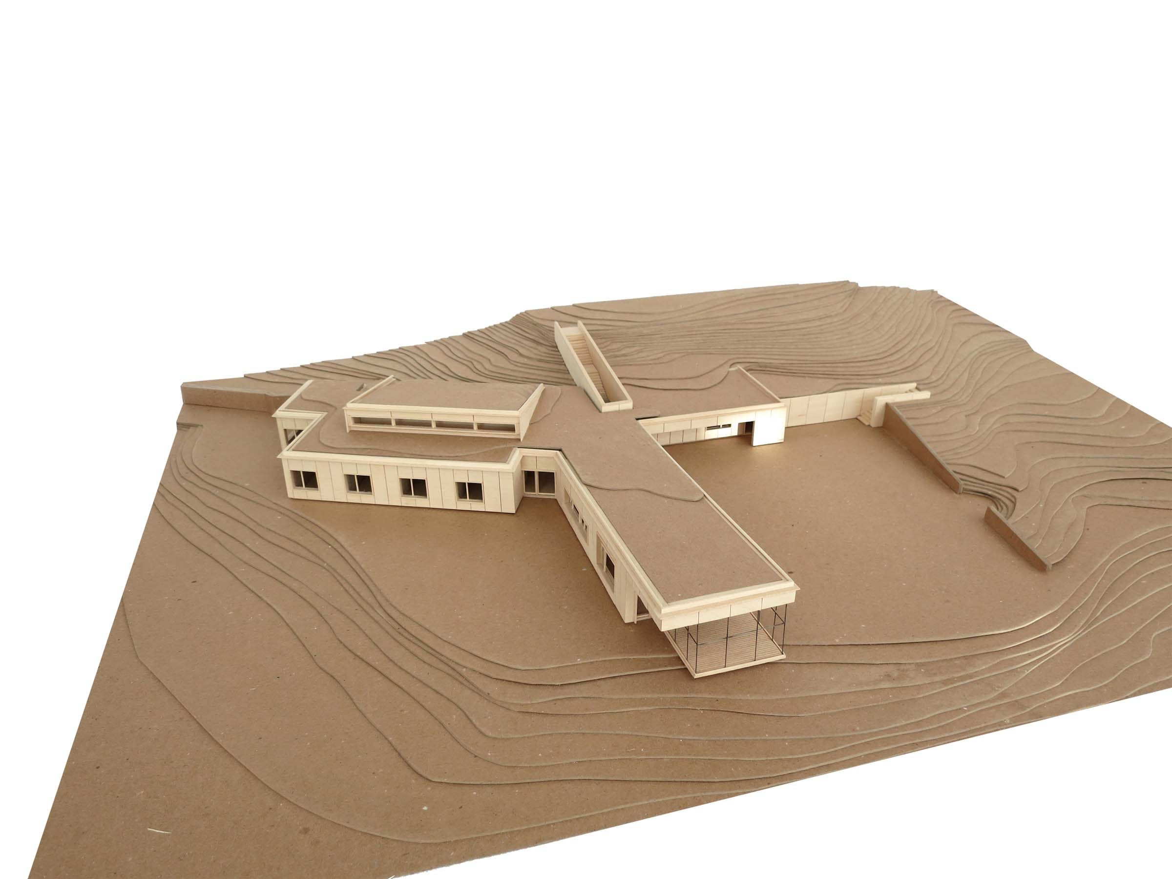 Guilford Artists' Residence - aerial view model
