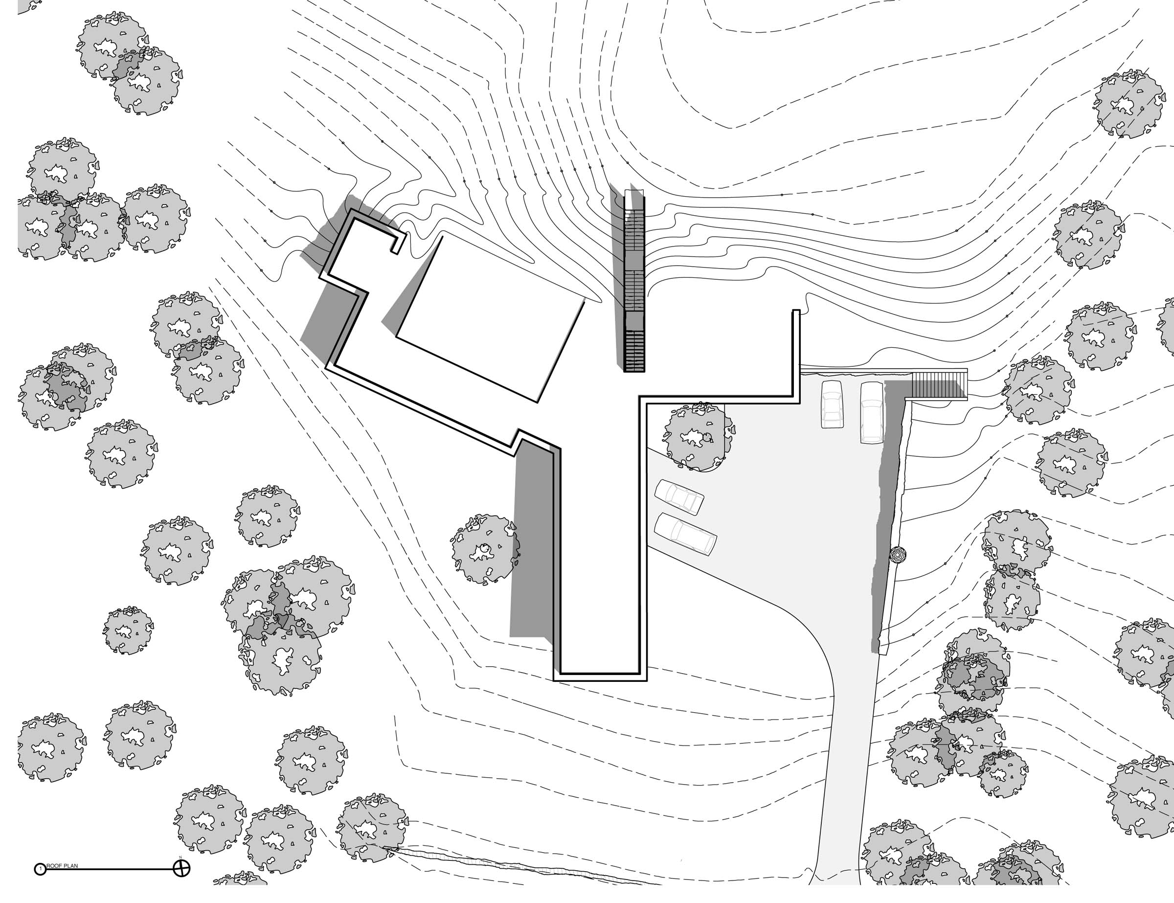 Guilford Artists' Residence - roof plan