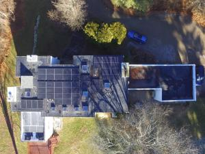 "Our solar panel array on the roof of our house, our ""Green Zero Carbon Home"""