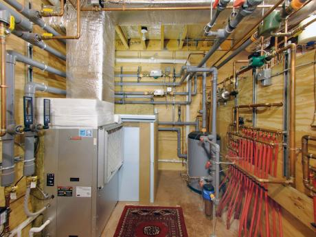 ROSE Cottage Project - Mechanical Room - Geothermal Systems