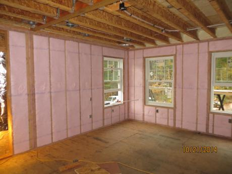 Blown in Batt Insulation in walls