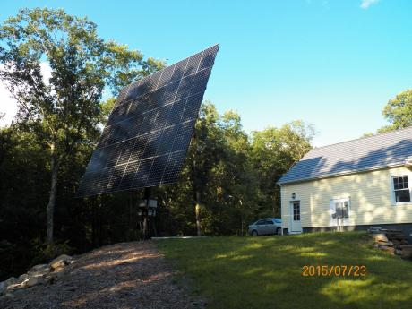 Solar tracking PV array