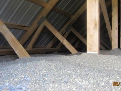 """25"""" of cellulose in attic"""