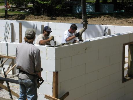 Trail Magic, Reddi-Wall insulated concrete form; a positive energy home in Oberlin, OH