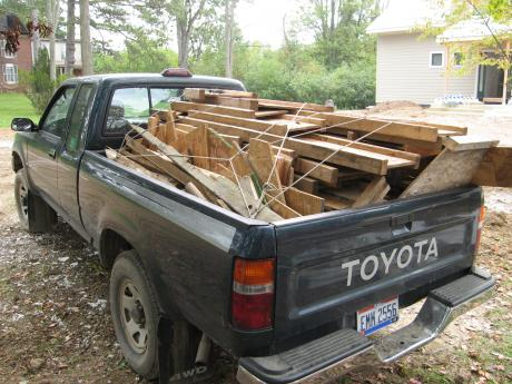Trail Magic, 95% (9,964 lbs) of construction waste reused or recycled; a positive energy home in Oberlin, OH.