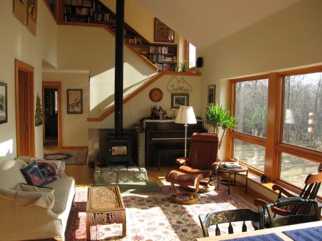 Trail Magic, living-dining rooom; a positive energy home in Oberlin, OH.