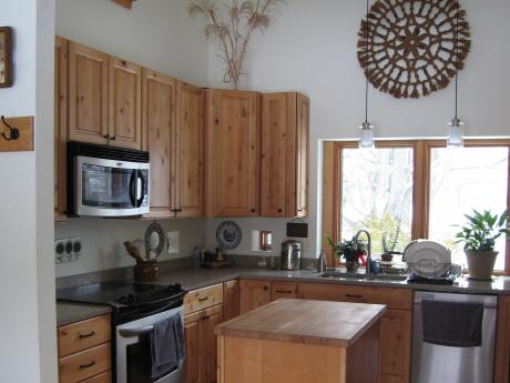 Trail Magic, kitchen; a positive energy home in Oberlin, OH.