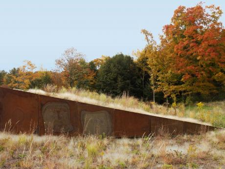 Guilford Artists' Residence - clerestory at green roof