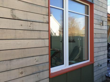 Mechanic Street Passive House window detail