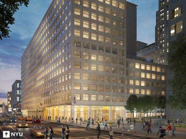 exterior of NYU Pro Tour project