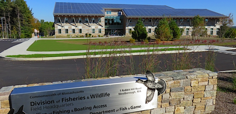 Exterior of the Massachusetts Fish and Wildlife Headquarters