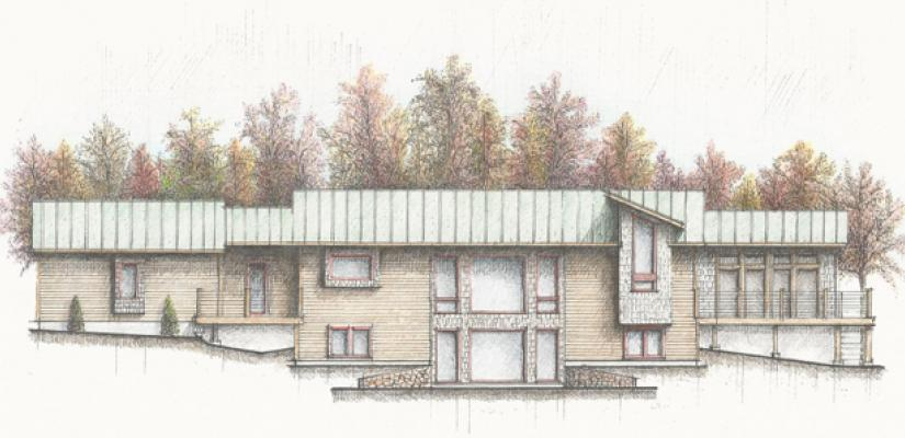 Sketch of Completed House