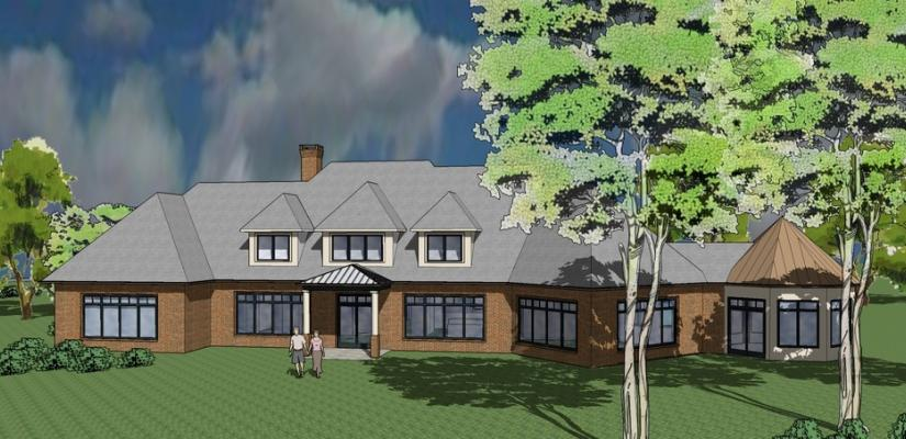 Rendering of exterior of house