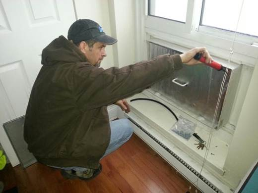 Air-sealing around windows with caulk